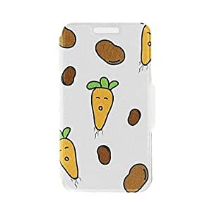 LZX Kinston Carrots and Potatoes Pattern PU Leather Full Body Case with Stand for iPhone 5/5S