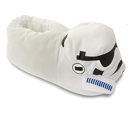SAMs Disney Star Wars Trooper Hausschuhe Pantoffel Schlappen Kuscheltier Plüsch Herren Weiß 29-47, TH-Trooper Weiß