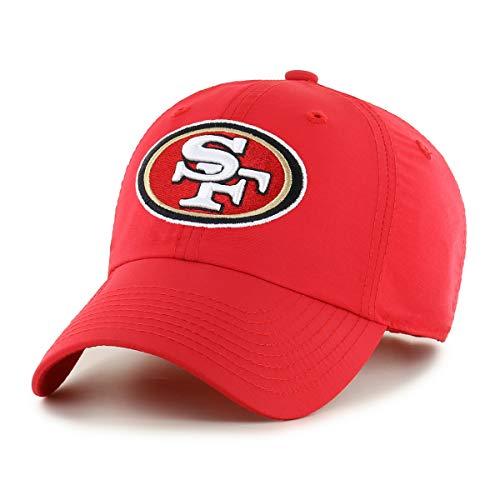 OTS NFL San Francisco 49Ers Male Wind Swept Challenger Adjustable Hat, Red, One Size