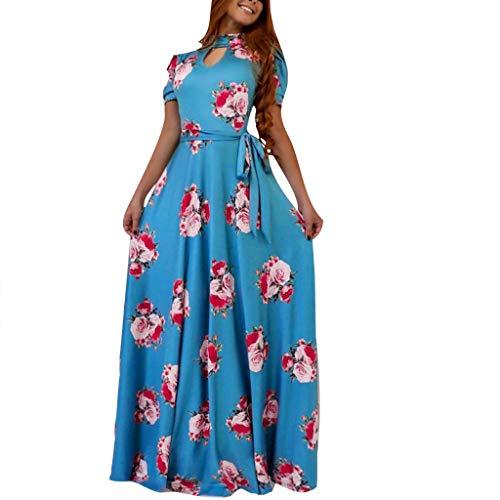 Women Dresses Women's Long Sleeve Boho Maxi Dress Ladies Elegant Long Floor-Length Dress with -