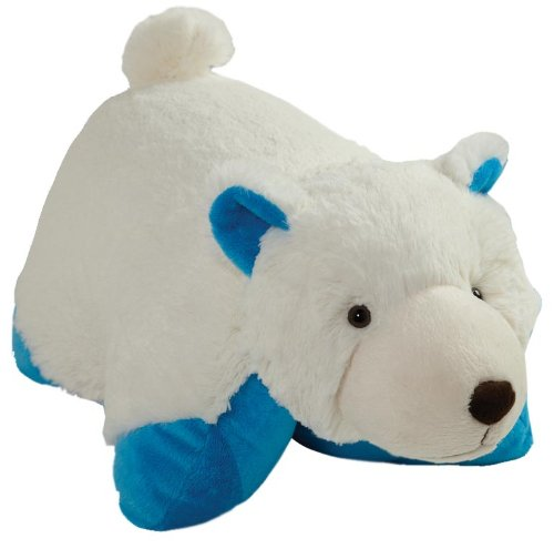 "My Pillow Pets Blue Bottom Wintry Polar Bear Plush, 18""/Larg"
