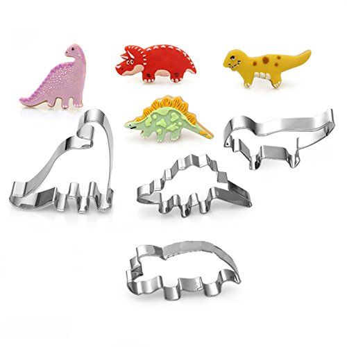 4pcs/set Stainless Steel Dinosaur Animal Baking Fondant Biscuit Cookie Cutter Party Cake - 1