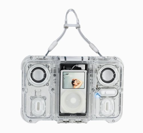 Ego Speaker - eGo Waterproof Sound Case with Dual Speakers for iPod (Clear)