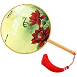 Elegant Hand Fan Aulic Circular Fan Chinese Fans Handheld Fan Mandarin Fan L