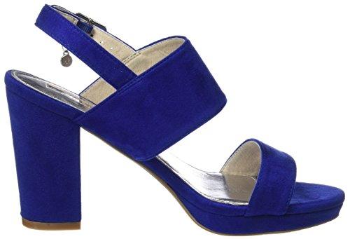 XTI Damen 30753 Riemchenpumps Blau (Blue)