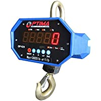 Optima Scales OP-925-20000 Digital Heavy Duty Industrial Hanging Crane Scale with remote control, 20,000 lbs x 10 lbs