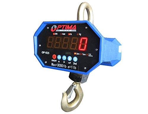 3,000 LBS x 1 LBS NEW !!! Optima Scale OP-925-3000 Hanging Industrial Crane Scale