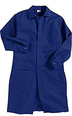 MEDIUM - ROYAL BLUE - FLAME RESISTANT LAB COAT by Saf-Tech - 9oz. 100% Cotton INDURA Fabric - HRC 2 - ATPV = 11.5 cal/m2 - MADE IN THE U.S.A.