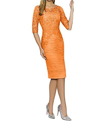 Etukleider mit mia Spitze Standsamt Ballkleider Langarm Abendkleider 4 3 La Partykleider Braut Orange Kleider Geraft dCxpwqt08n
