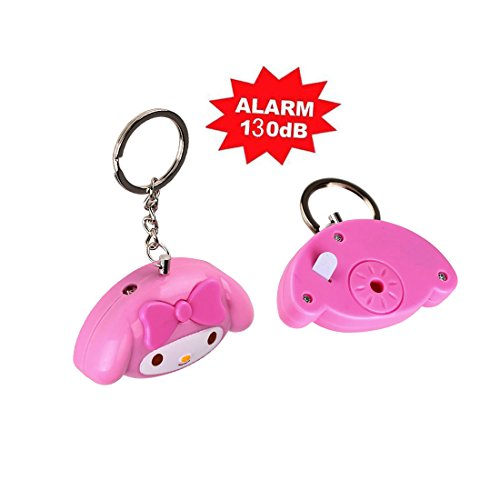 Buyker Personal Alarm 130db Loud Cute Emergency Alarm Self Defense Keychain with Keyring for Kids, Girls, Women