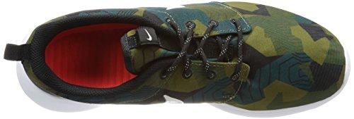 Nike Men's Roshe One Print Running Shoes Marrón (Cargo Khaki/Light Bone-white) JPwQauMrCk