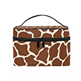 Cosmetic Case Bag Giraffe Tattoo Brown Portable Travel Makeup Bag Toiletry Organizer