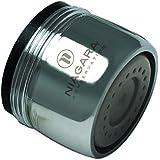 Niagara Conservation N3205N-PC-T Dual Thread 0.5 GPM Wide Stream Spray Water-Saving Aerator (6 Pack), Chrome, Standard