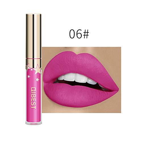 Lipstick,Longay Sexy Long Lasting Lip Lingerie Matte Liquid Lipstick Waterproof Lip Gloss Makeup (F)