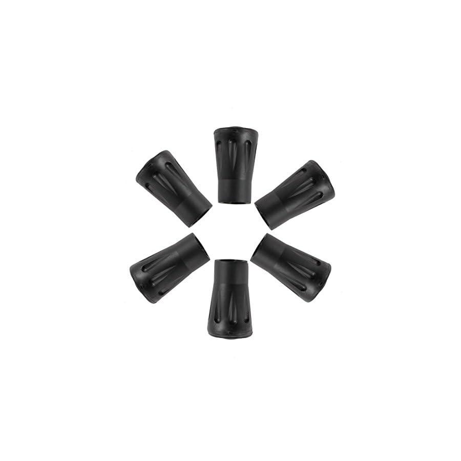 Xmifer Outdoors Hiking / Trekking / Walking Pole Vulcanized Rubber Replacement Tips