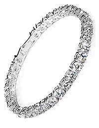 Neoglory Jewelry Platinum Plated Stunning Rhinestone Classic Tennis Bracelet Bangles Wedding