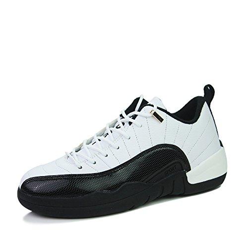 WZG Los nuevos zapatos bajo-top baloncesto, deportes y ocio zapatos zapatos zapatos de encaje de los estudiantes White