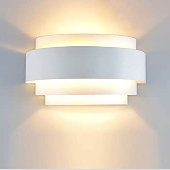 Lightess Modern Sconce LED Wall Light Up Down Wall Lights Wall Lamp For  Living Room Hallway Bedroom Lamps, Warm White, 5W (Bulb Included)