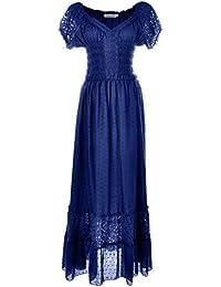 Renaissance Peasant Maiden Boho Inspired Cap Sleeve Lace...