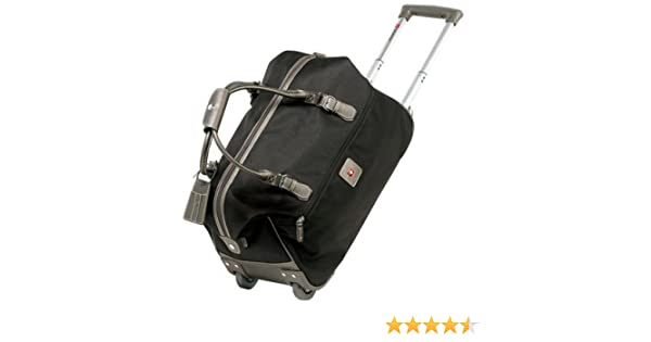 9a2c0d2157b Amazon.com  Swiss Gear Zurich Rolling Duffel Bag - Black (20