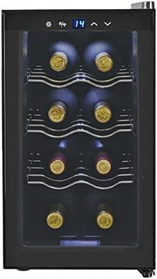 Tuduo Botellero para vinos Nevera Bar 25 L 8 Botellas Pantalla de ...