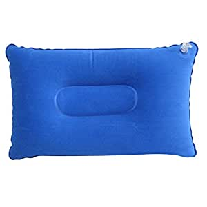 FITYLE Inflatable Pillow Outdoor Sleeping Cushion Pad Travel Camping Rest Support - 34x22cm Blue, Single