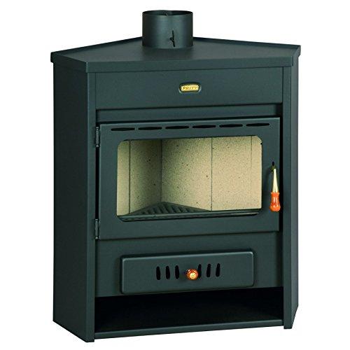 Caldera de leña estufa Prity, Modelo AM D12, salida de calor 18 kW, en la esquina colocación: Amazon.es: Bricolaje y herramientas