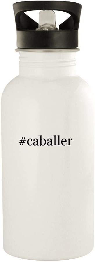 #Caballer - 20Oz Stainless Steel Water Bottle, White