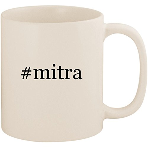 - #mitra - 11oz Ceramic Coffee Mug Cup, White