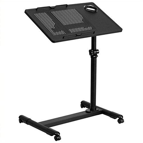 Scranton and Co Adjustable Mobile Laptop Cart in Black