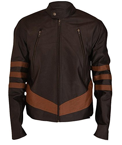 F&H Men's X-Men Origins Wolverine Jacket L Brown