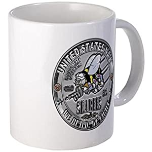 "11 ounce Mug - USN Seabees Equipment Operato Mug - S White "" from coffee mug"