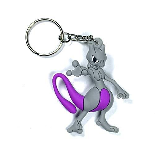DeltaHalo   Pokemon Keychain Zipper Pull [Ultra Light Rubber Pokemon Keyring] American Seller! (Mew)