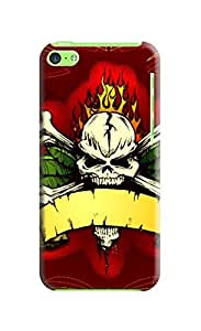 LarryToliver iphone 5c Series Tattoo Art Design, Variety of Sexy Cases Terror Skull, Protective Snap-on Hard Plastic Case Cover for Terror Skull Background image #5
