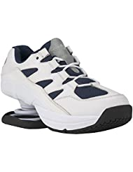 Z-CoiL Pain Relief Footwear Mens Freedom Slip Resistant Navy White Leather Tennis Shoe