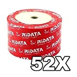 Ridata 52X 80-Min White Inkjet Hub CD-R's 600-Pak Shrinkwrap