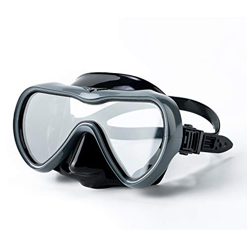 (Rongbenyuan Diving Mask Swimming Goggles with Nose Cover Scuba Snorkeling Mask Anti-Fog No-Leak)