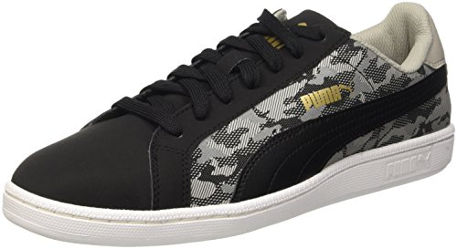 Puma Smash Buck Camo Baskets Mode-Noir/Drizzle 10,5