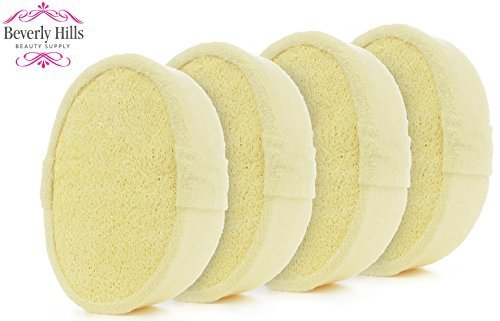 Loofah Body Scrubber Sponge - 4 Pack - Ultra Thick Exfoliating Glove for Men or Women - Softens, Smooths and Renews from Head to Toe in the Shower or Bath - Shopping Hills Beverly In