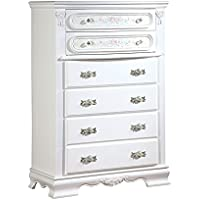 ACME 01666 Flora Chest, White Finish