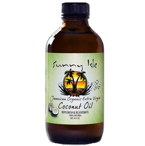 Sunny Isle Jamaican Organic Extra Virgin Coconut Oil Replenish & Rejuvenate !00% Natural - No Salt added 6 Oz 005105
