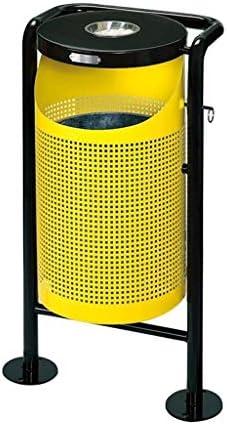 ゴミ袋 ゴミ箱用アクセサリ クリエイティブヴィンテージメタルゴミ箱スクールパーク屋外ゴミ箱トップ灰皿大ゴミ箱 キッチンゴミ箱