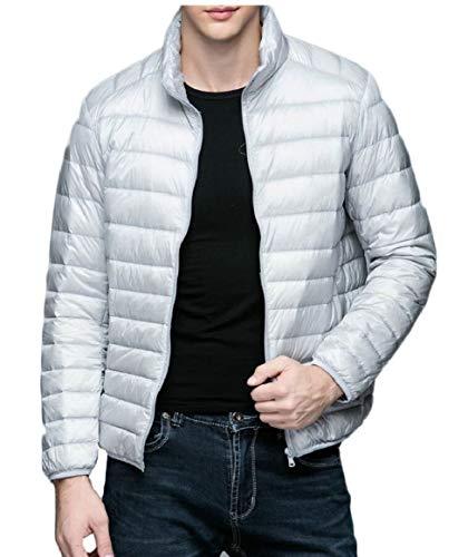 Piumino Uomini Coreana Cappotto Gery Packable Alla Gocgt Colletto Leggero Outwear WUFRxqX