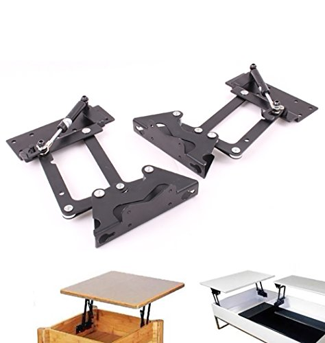 Lift up Modern Coffee Table Mechanism Hardware Fitting Furniture Hinge Gas Hydraulic Hinge DIY Project ,Black