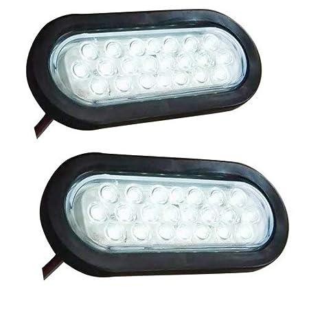 """Pair 6/"""" Amber 22LED Stop//Turn Signal//Brake//Marker//Tail Light for Truck Trail 12V"""