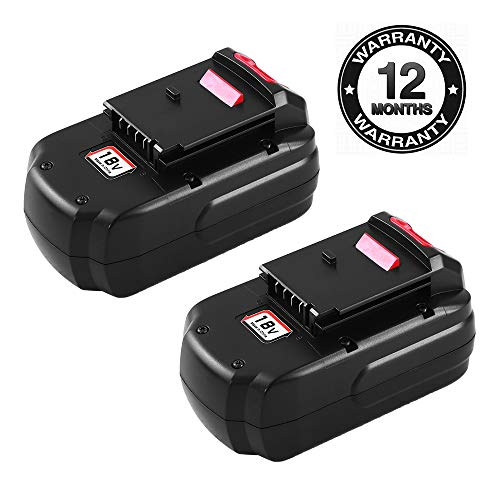 - Replace Porter Cable 18V Battery for PC18B Battery PCC489N PCMVC PCXMVC cordless Tool Battery 2-Packs