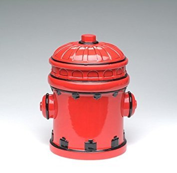 Appletree Design Who Let the Dawgs Out Fire Post Cookie Jar, 10-Inch ()