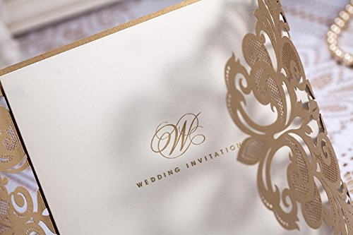 Wedding Invitation Cards Buy Online: Luxury Laser Cut Lace Fleur De Lis Wedding Invitation