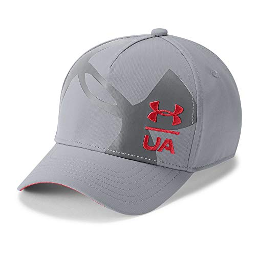Under Armour Boys Billboard Cap 3.0, Steel (035)/Red, Youth X-Small/Small (Baseball Hat Accessories)
