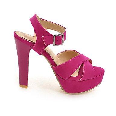 LvYuan Tacón Robusto-Zapatos del club-Sandalias-Informal-PU-Negro Rojo Almendra Red